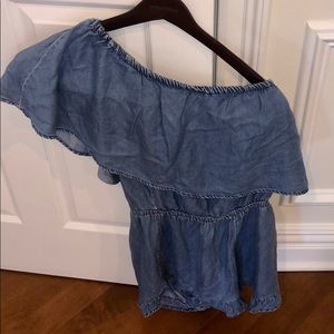 Trendy denim romper. Must go-offers welcomes!